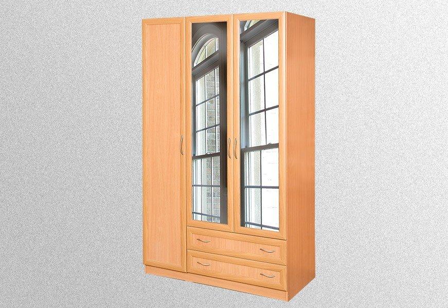 Шкаф с 3-хдверный 2 зеркалами